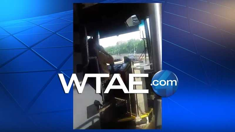 This photo was taken by a passenger on a Port Authority bus.