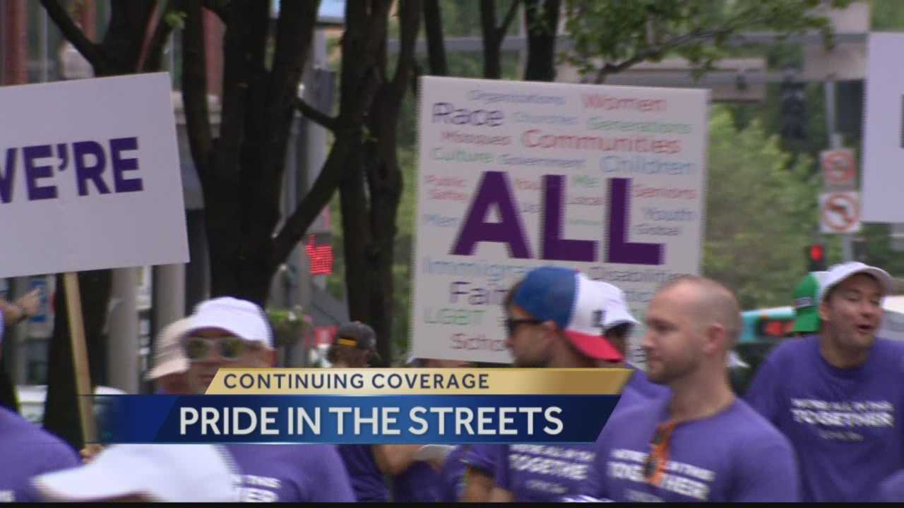 PrideFest drew thousands of people to downtown Pittsburgh this weekend.  Liberty Avenue was packed with more than 150 vendors and street performers.