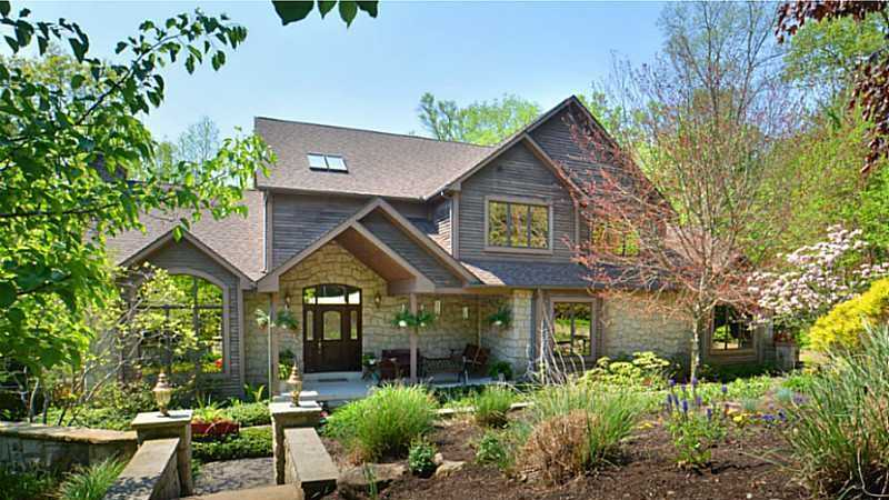 This home is perfect for the nature lover with over ten acres of private walking trails, a custom built gazebo, and multiple picnic areas. The home is listed for $1.25M and is featured onrealtor.com.