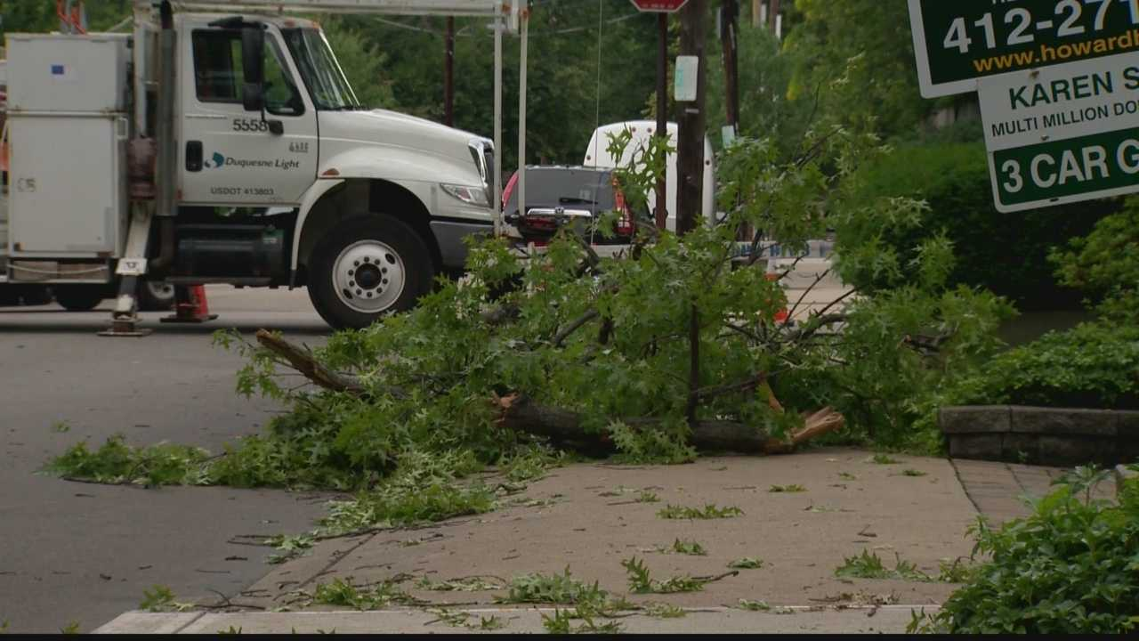 At least 40 Shadyside residents were without power for nearly 24 hours after a storm hit St. James Street just off Walnut St. on Thursday night.