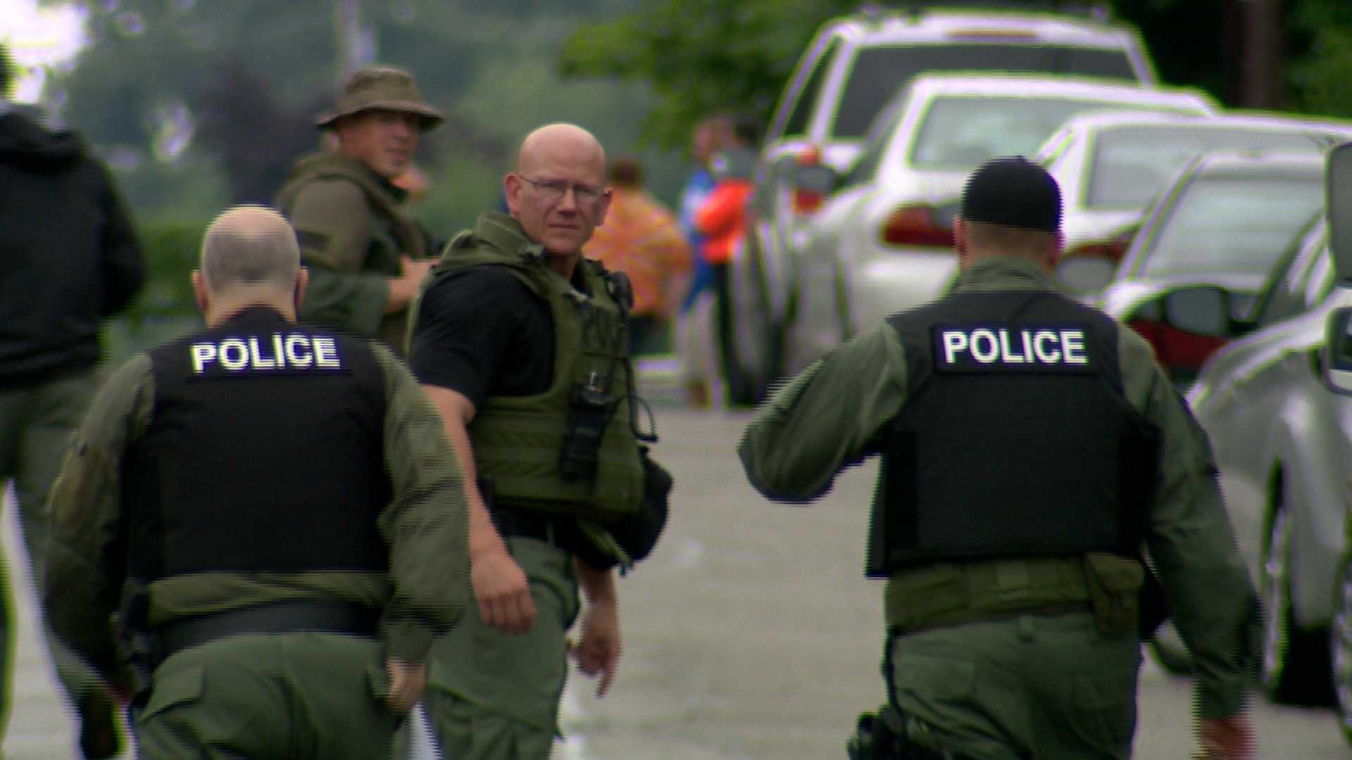 A woman was taken in to custody Saturday afternoon after a SWAT situation in South Park.
