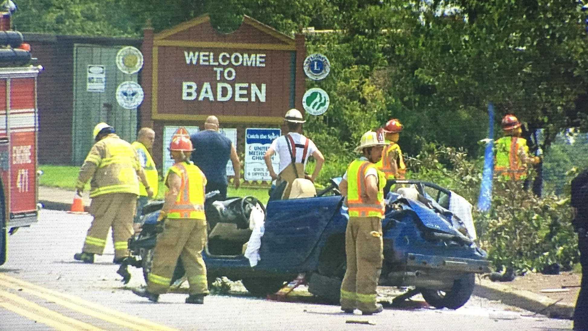 One person was killed Sunday afternoon after a fatal crash in Baden.