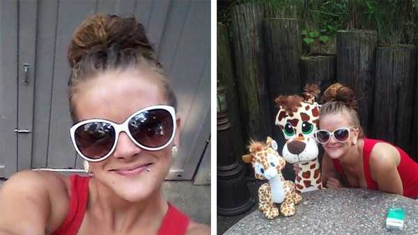 These photos of Chelsea Thoms were taken at Kennywood Park and shared by her mother.