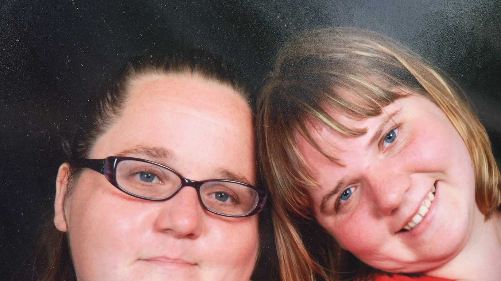 Sisters Christy and Stephanie Krulia were separated in their home as they attempted to escape the blaze.