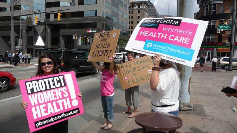 Planned Parenthood volunteers in Columbus, Ohio.