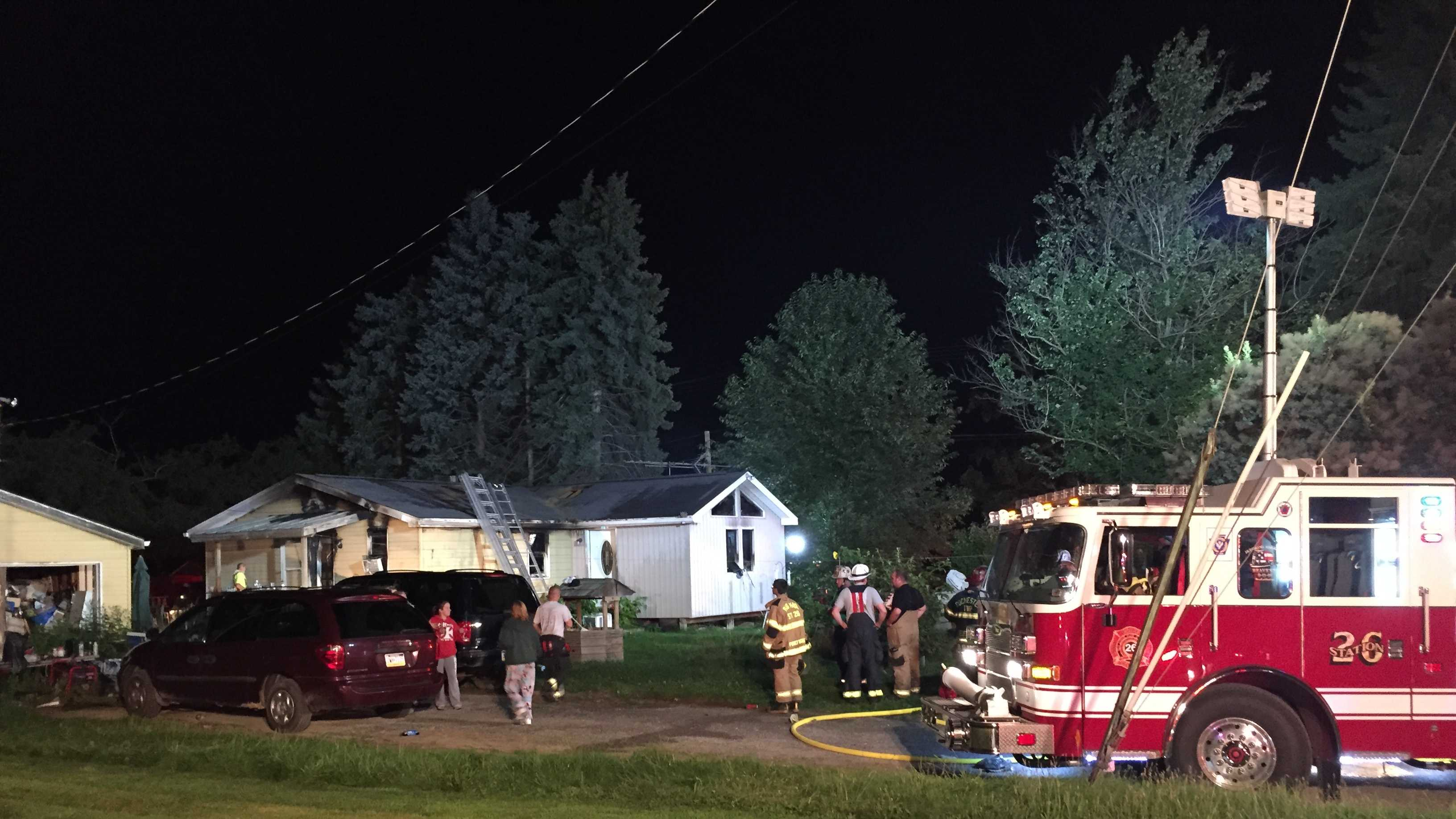 Crews quickly get fire under control in New Sewickley Township.