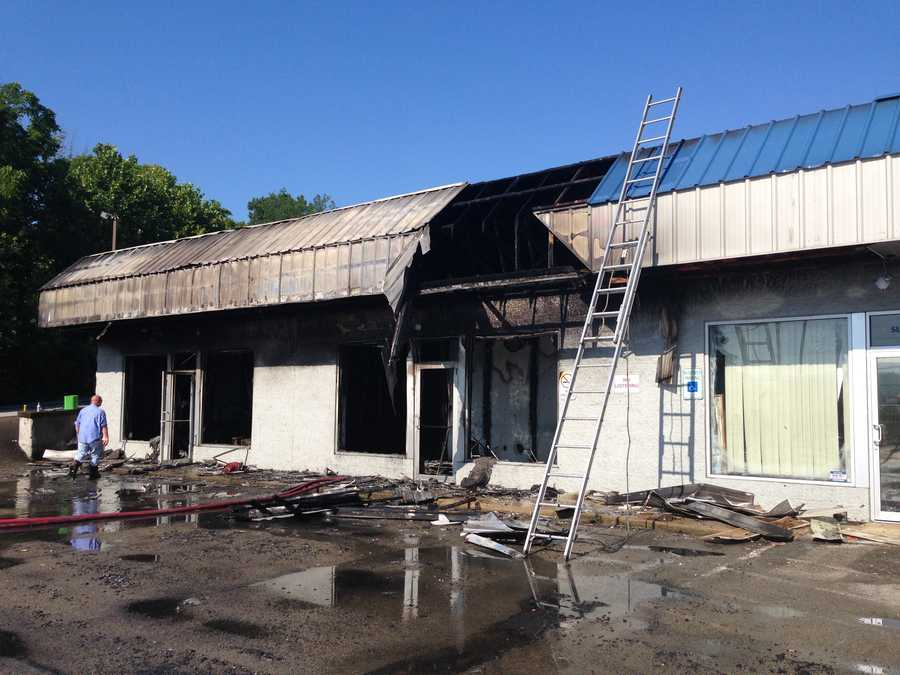 Firefighters from North Union Township Fire Department and Hopwood Fire department extinguished a fire at a shopping center in North Union Township on Pittsburgh Road in Fayette County Friday morning. The shopping center housed a methadone clinic and several other businesses.