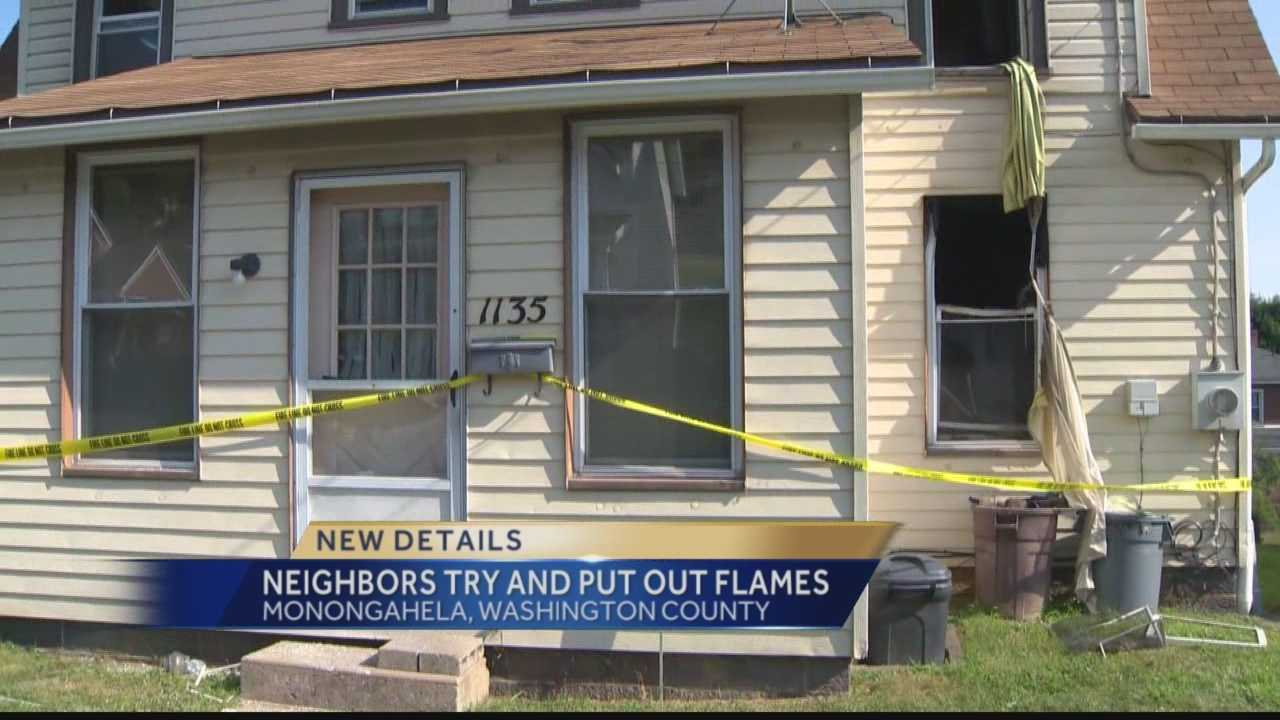 A fatal fire tore through a home in Monongahela Sunday morning, killing one man trapped within.