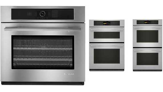 Left to right: Single Wall Oven, Combination Microwave Wall Oven, Double Wall Oven.