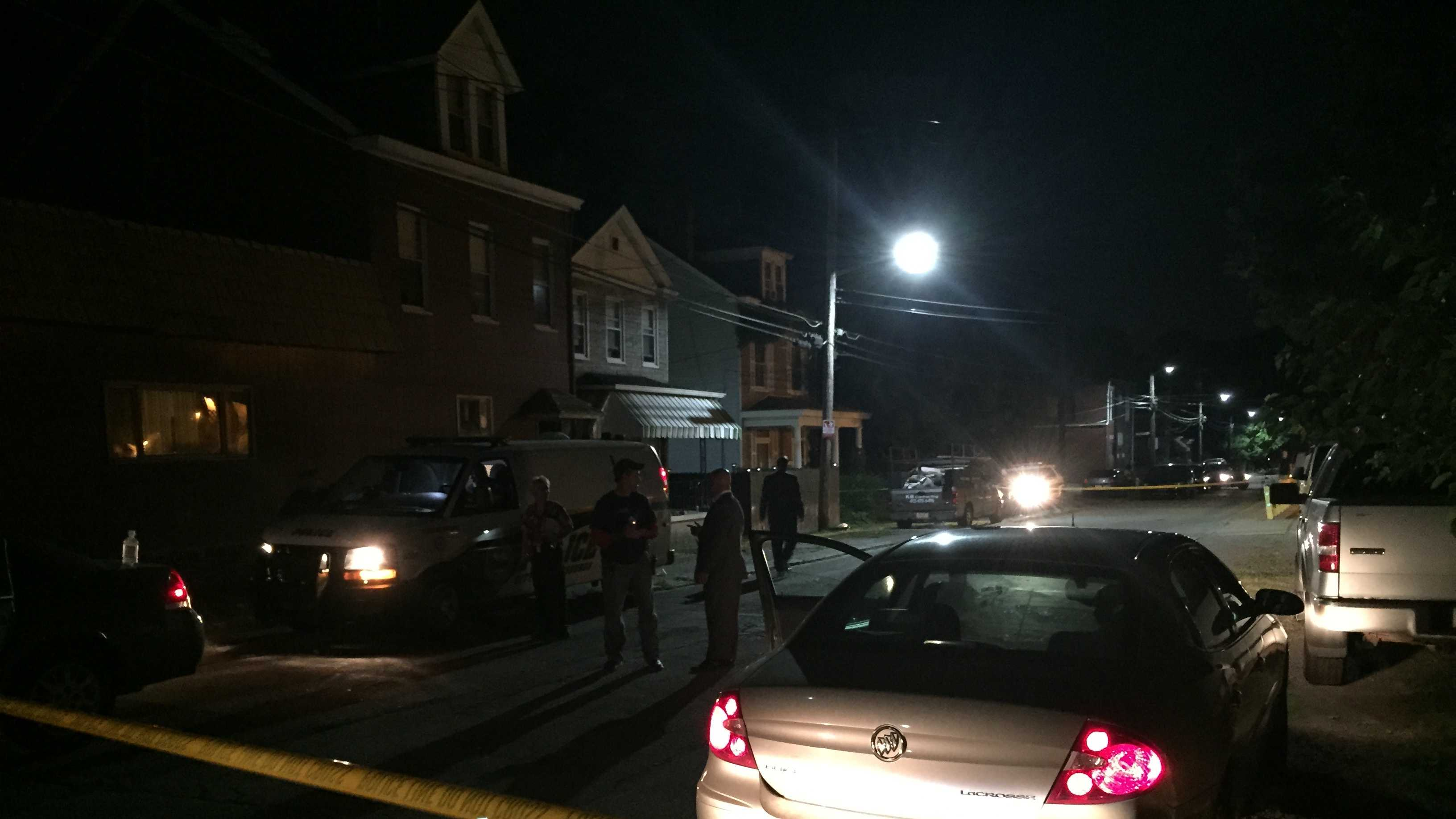 Police investigate shooting in Pittsburgh's Marshall-Shadeland neighborhood.