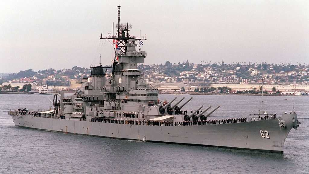 Battleship New Jersey before her decommissioning while in Active Service for US Navy