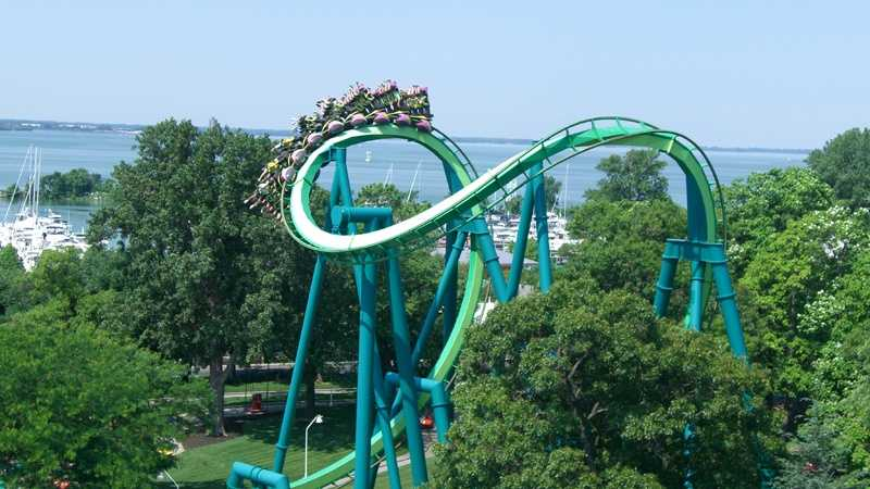 The Raptor roller coaster at Cedar Point.