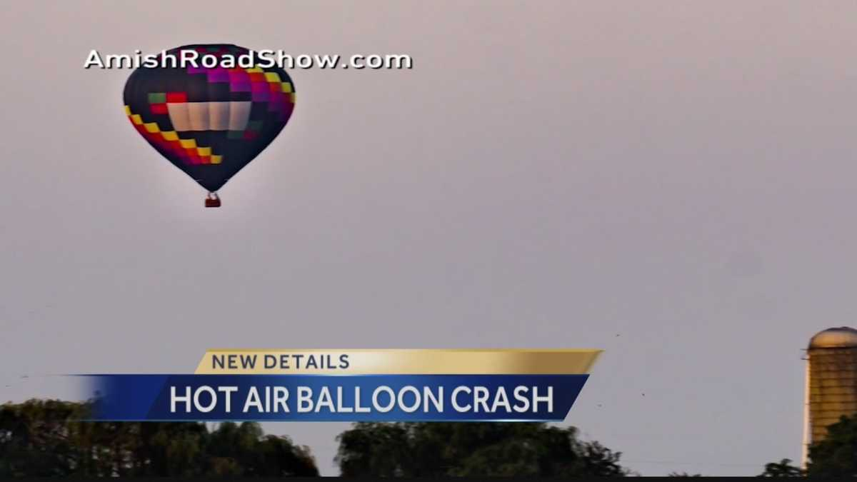 Three injured in hot air balloon accident in Pennsylvania