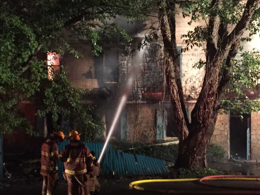 No one injured in overnight fire at historic bed and breakfast.
