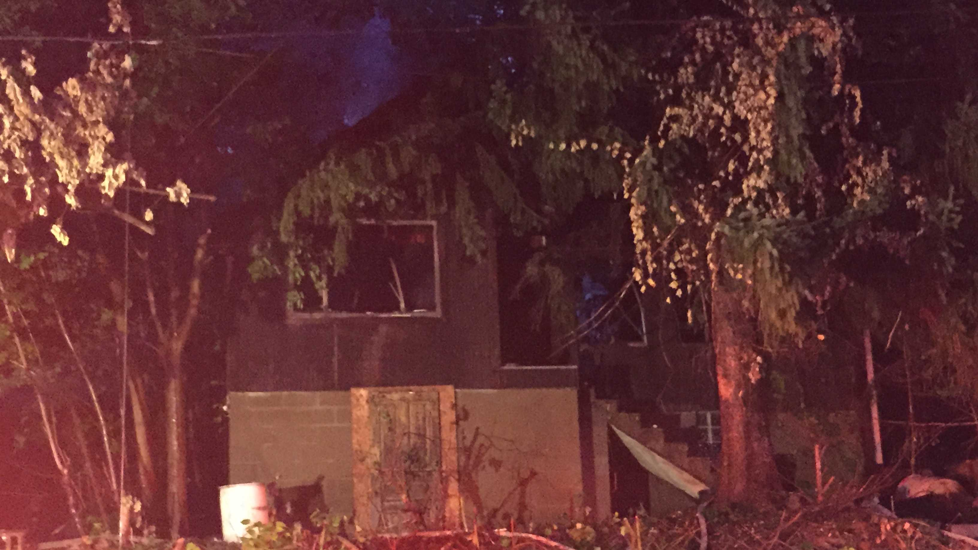 One firefighter taken to the hospital from the scene of an early morning fire in Wilkinsburg