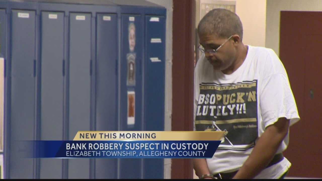 Police have arrested a man for robbing an Elizabeth Township bank.