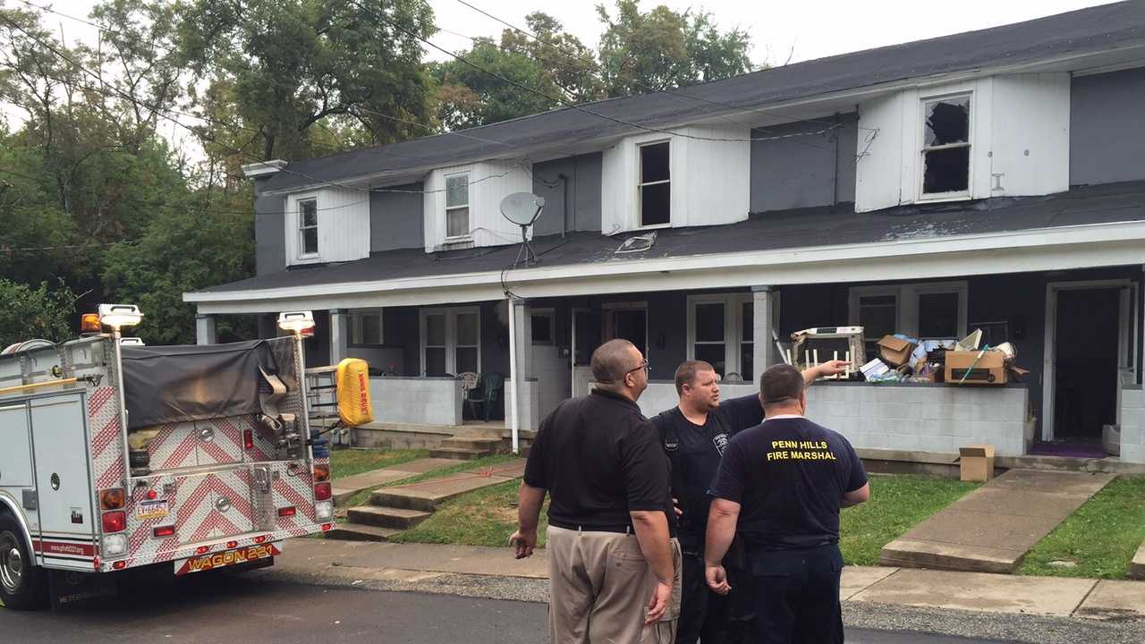 A fire blazed through an Allegheny County apartment complex Sunday morning.