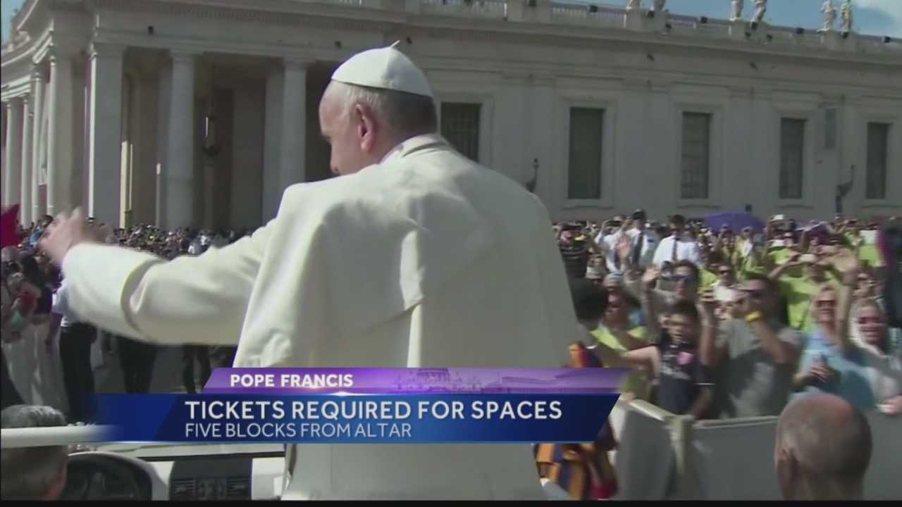 Pittsburgh's Action News 4's Kelly Frey has the latest details on the tickets that you need to obtain in order to get within five blocks of Pope Francis during his mass on the Ben Franklin Parkway.