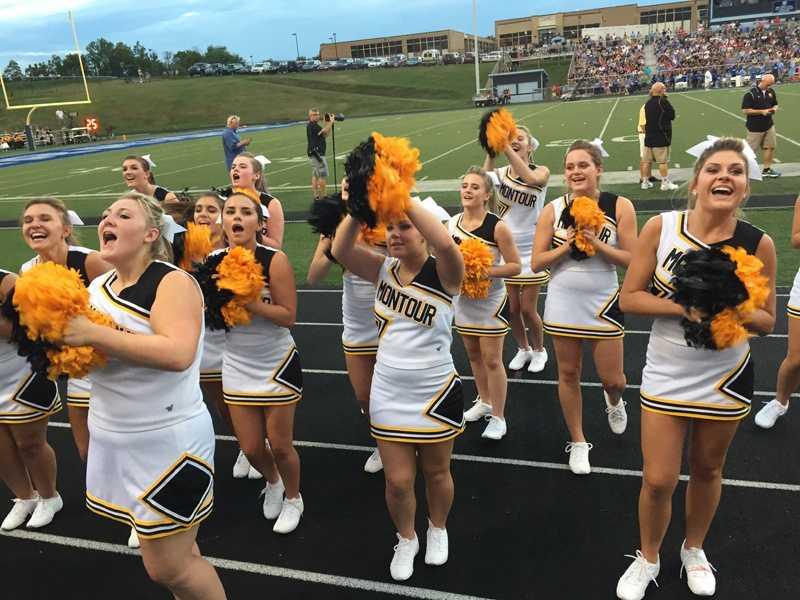 Montour High School cheerleaders