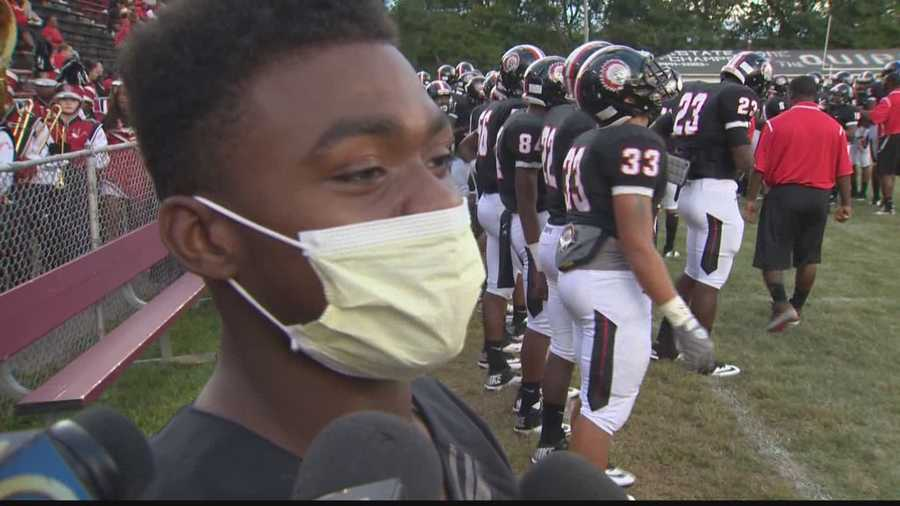DiMantae Bronaugh is sidelined by cancer, but after getting out of the hospital, he put his jersey on and went to support his Aliquippa teammates against Mohawk.