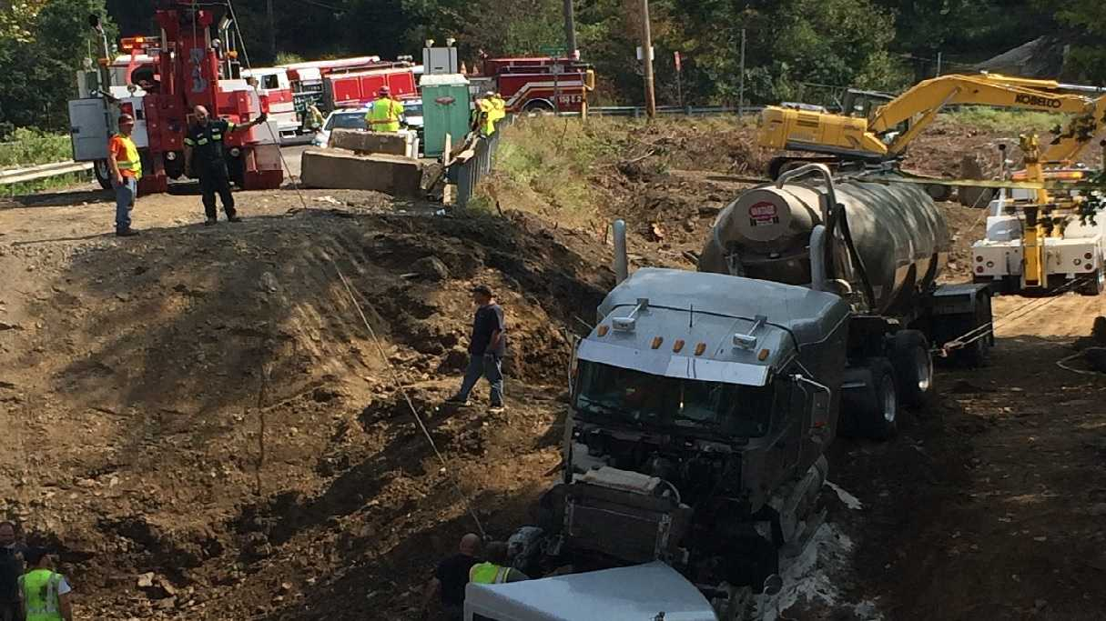 State police are investigating a tractor trailer accident in Fawn Township which occurred Sunday morning. Photo submitted by u local user Steve Sciulli.
