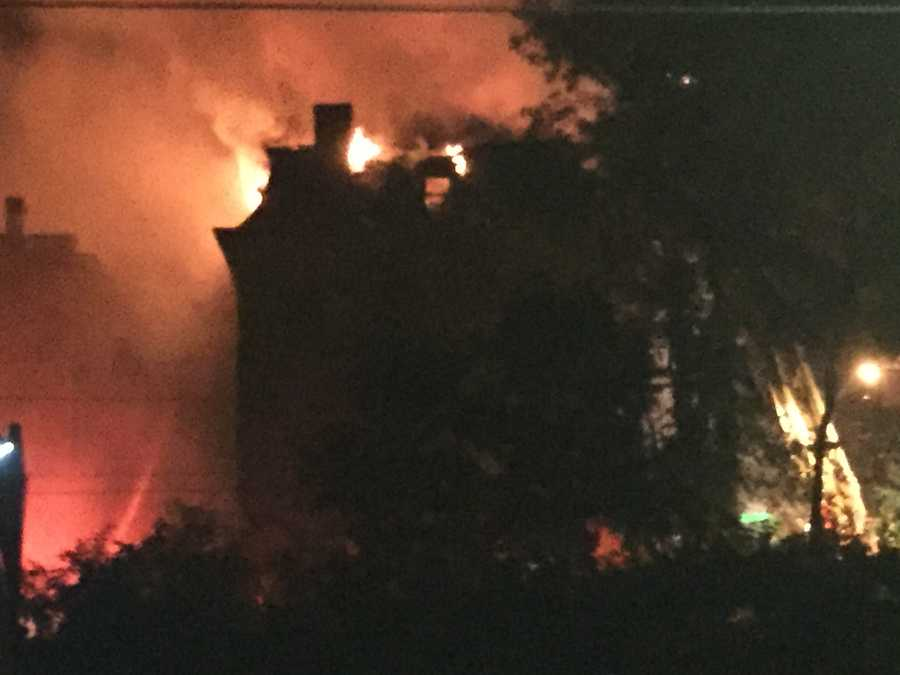Large fire tears through home in Pittsburgh's Garfield neighborhood.
