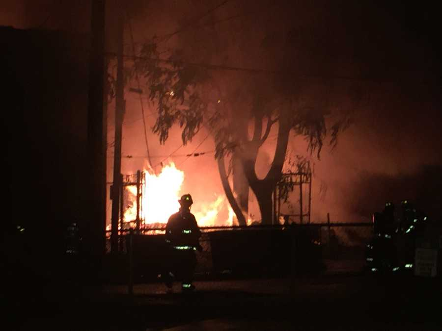 Fire tears through buildings on East 8th. Avenue in Homestead