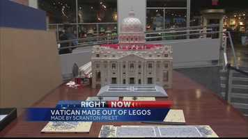 The Rev. Bob Simon spent about 10 months constructing a mini St. Peter's Basilica out of a half-million Legos. His architectural feat includes a Lego pope on a balcony overlooking the crowd in St. Peter's Square, which itself is made up of about 44,000 Lego pieces resembling cobblestones.