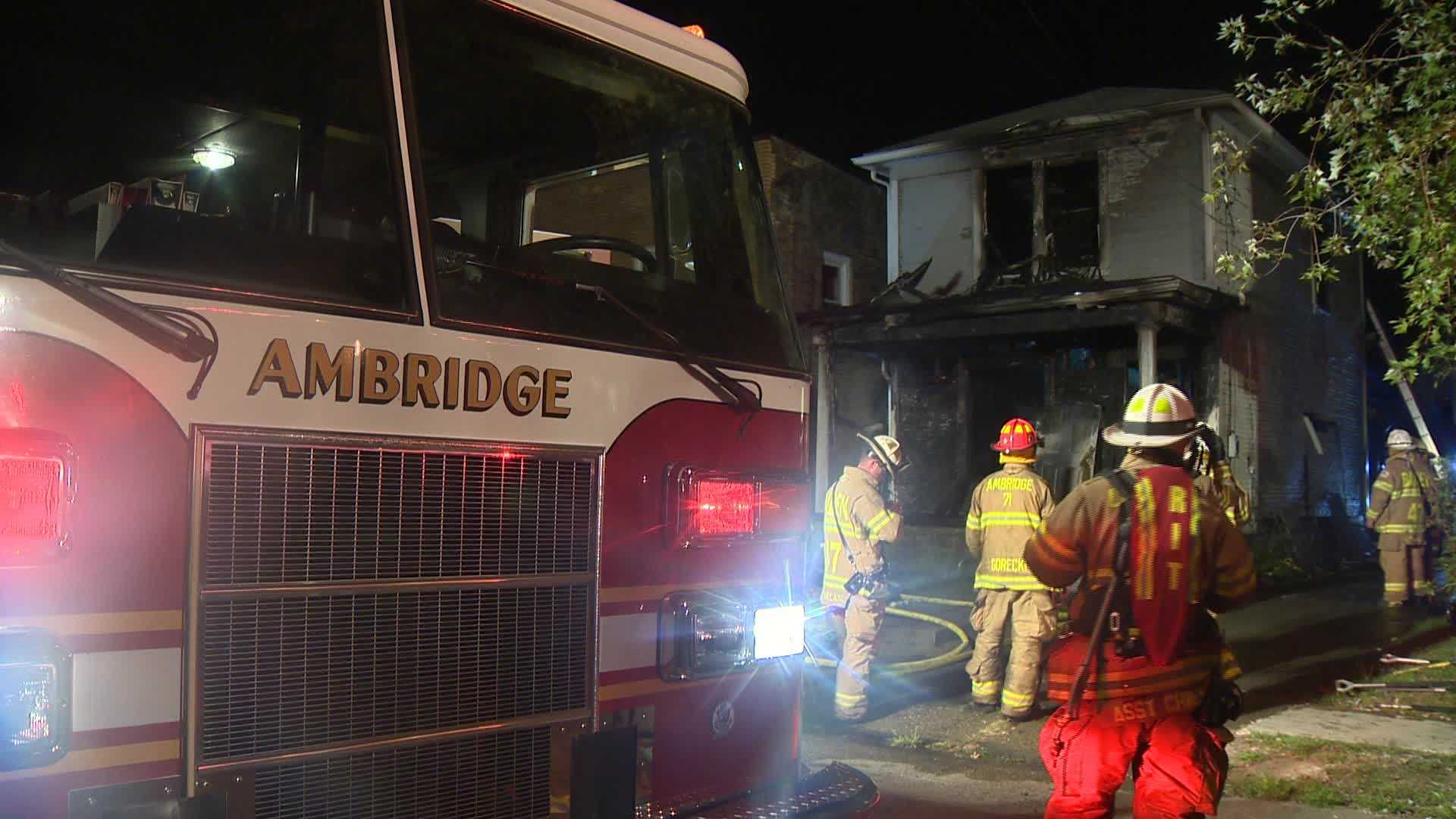 An Ambridge house was completely destroyed by fire early Saturday morning.