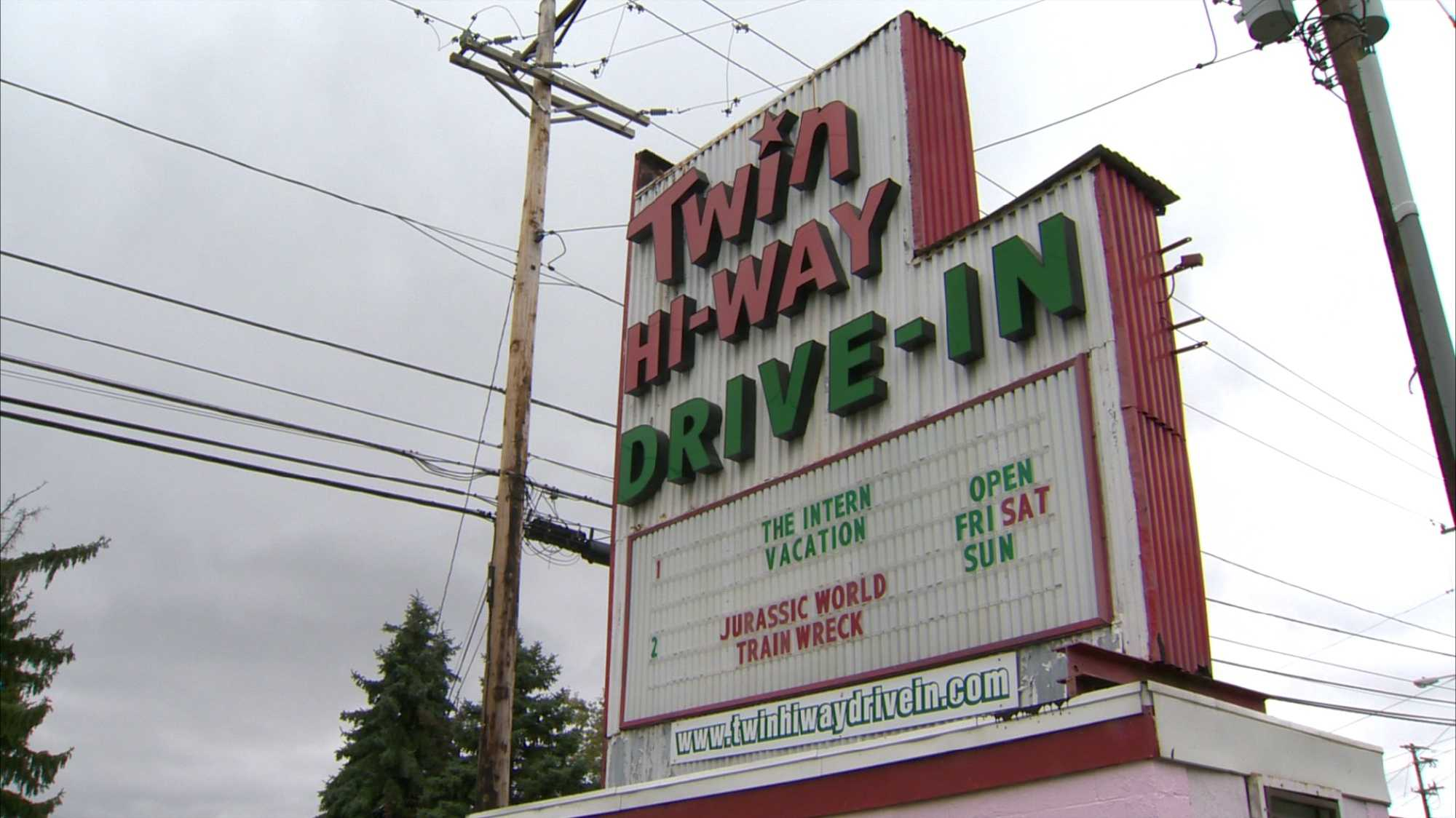 The Twin Hi-Way Drive-In movie theater in Robinson Township.