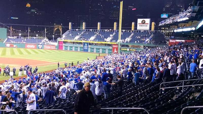 Chicago Cubs fans at PNC Park.