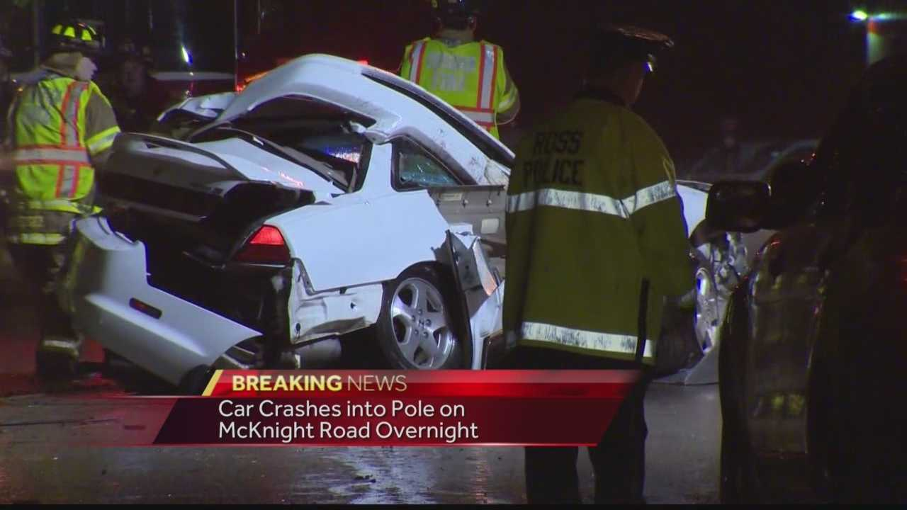 Pittsburgh's Action News 4 Reporter Katelyn Sykes with more on a crash that caused a power outage in Ross Township