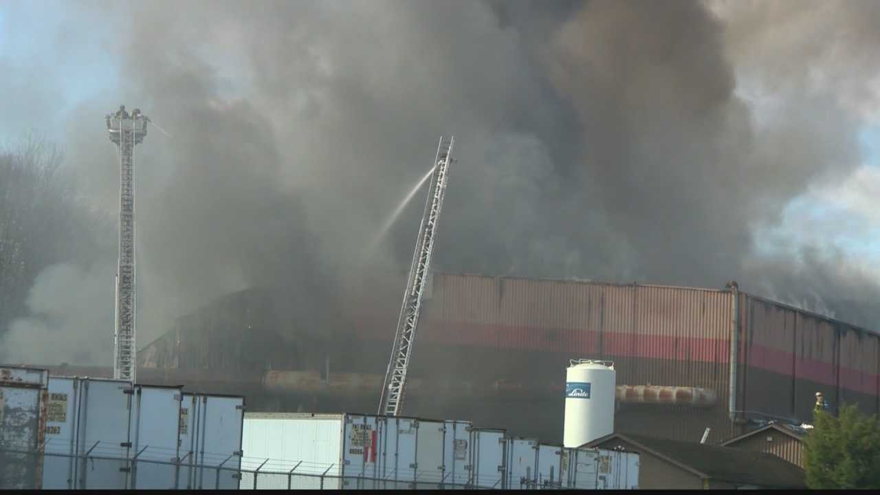 A fire broke out at an industrial plant in Ellwood City Sunday morning.