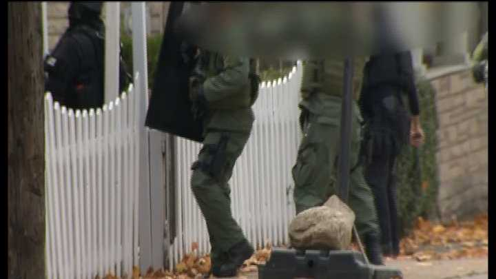 Video from the scene as police raid a home in Jeanette&#x3B; find out what they found inside on Pittsburgh's Actions News 4 at 5pm with Ashlie Hardway reporting.
