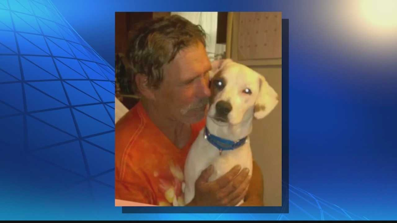 A homeless man is working with animal advocates to find his dog, who went missing from a Walmart parking lot where the man was living.