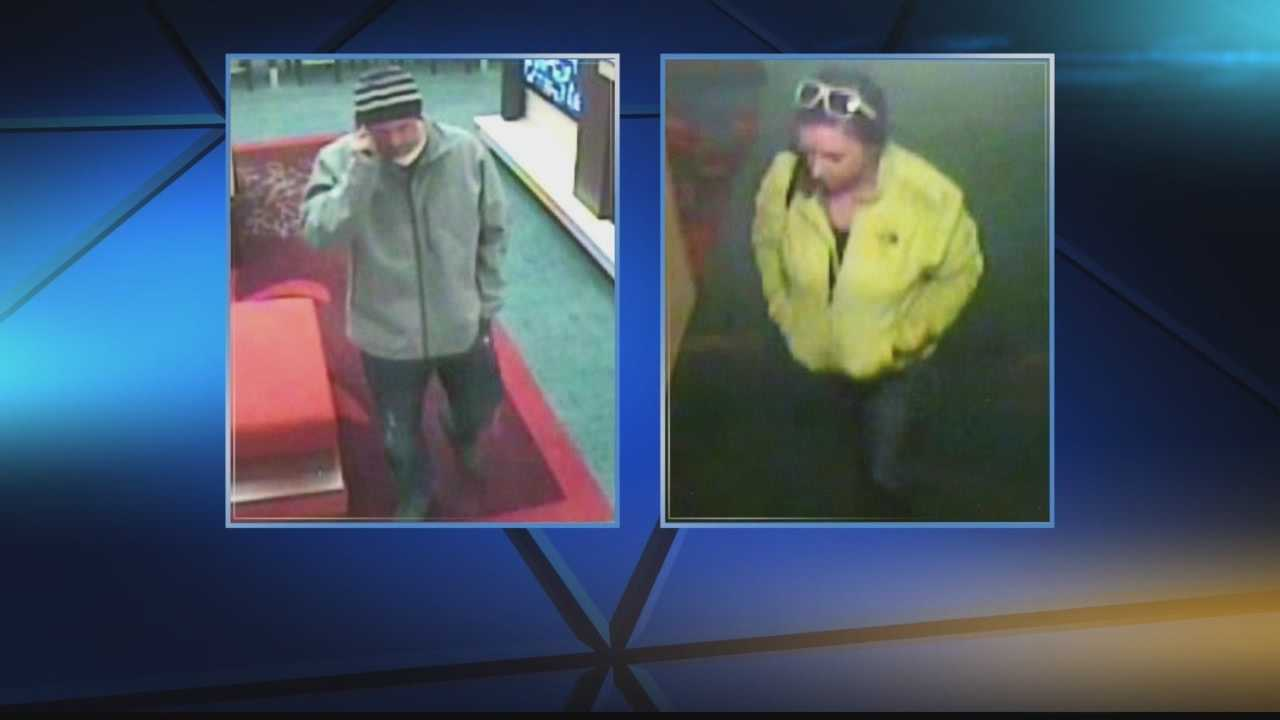 Wilkins Township police say a man and woman are accused of scheming three hotels in four days, using a similar story line each time.