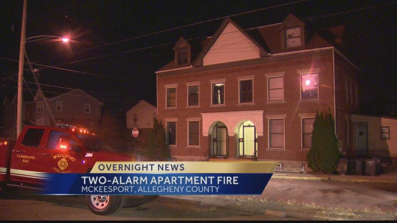 Some residents left homeless after fire at McKeesport apartment building