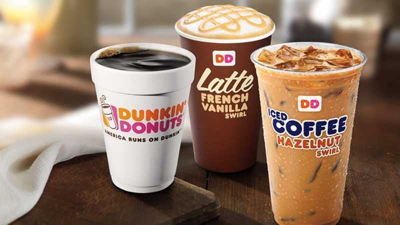 Dunkin' Donuts coffee latte