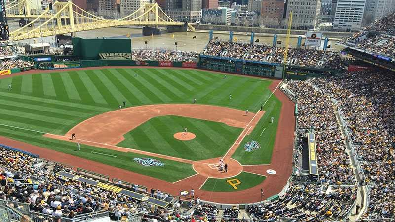 A Pittsburgh Pirates baseball game at PNC Park.
