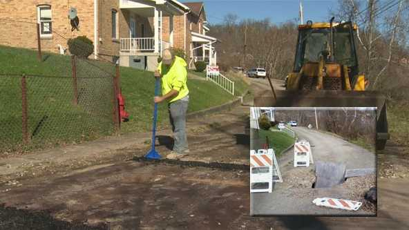 Residents on this street in Marianna, Washington County have waiting a year for the hole caused by a water leak to be patched.