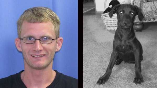 Police say Jason French killed his dog, Apollo, by strangling the animal.