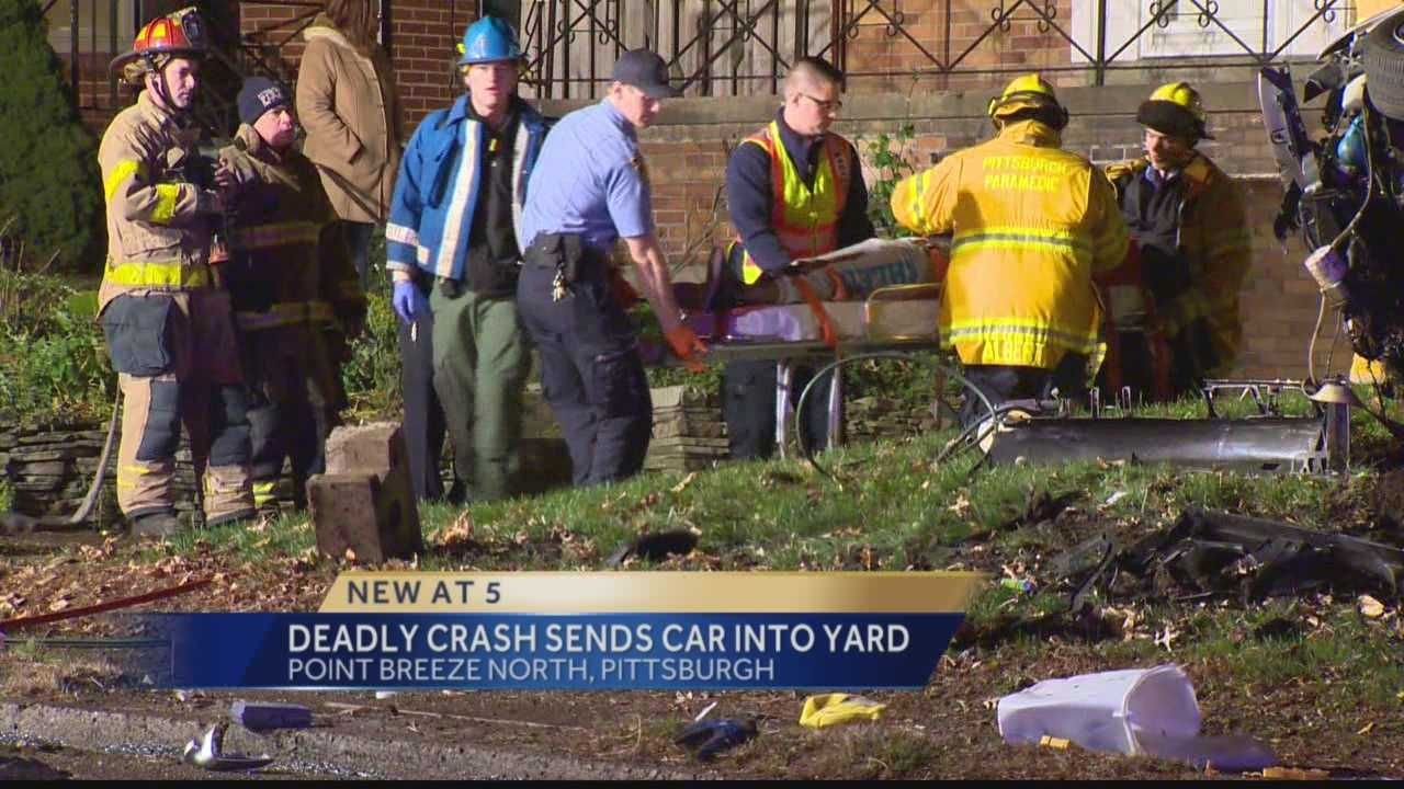 Pittsburgh's Action News 4's Bob Mayo reports from Point Breeze North where a car crash leads to a fatality.