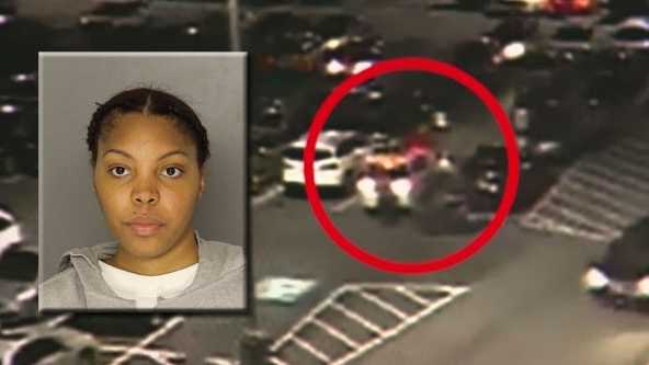 Ann Breia Kelly turned herself in Wednesdayfor stealing clothes from a Kohl's department store and then hitting a security guard and a baby stroller with her car.