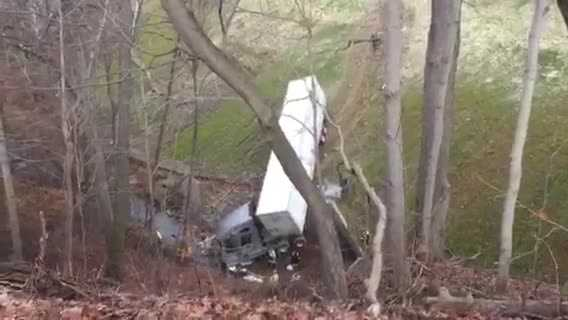 WTAE viewer, Lauren Cohen, sent in this video to WTAE U-Local of the tractor trailer accident on the PA Turnpike near mile marker 44 on Friday morning.