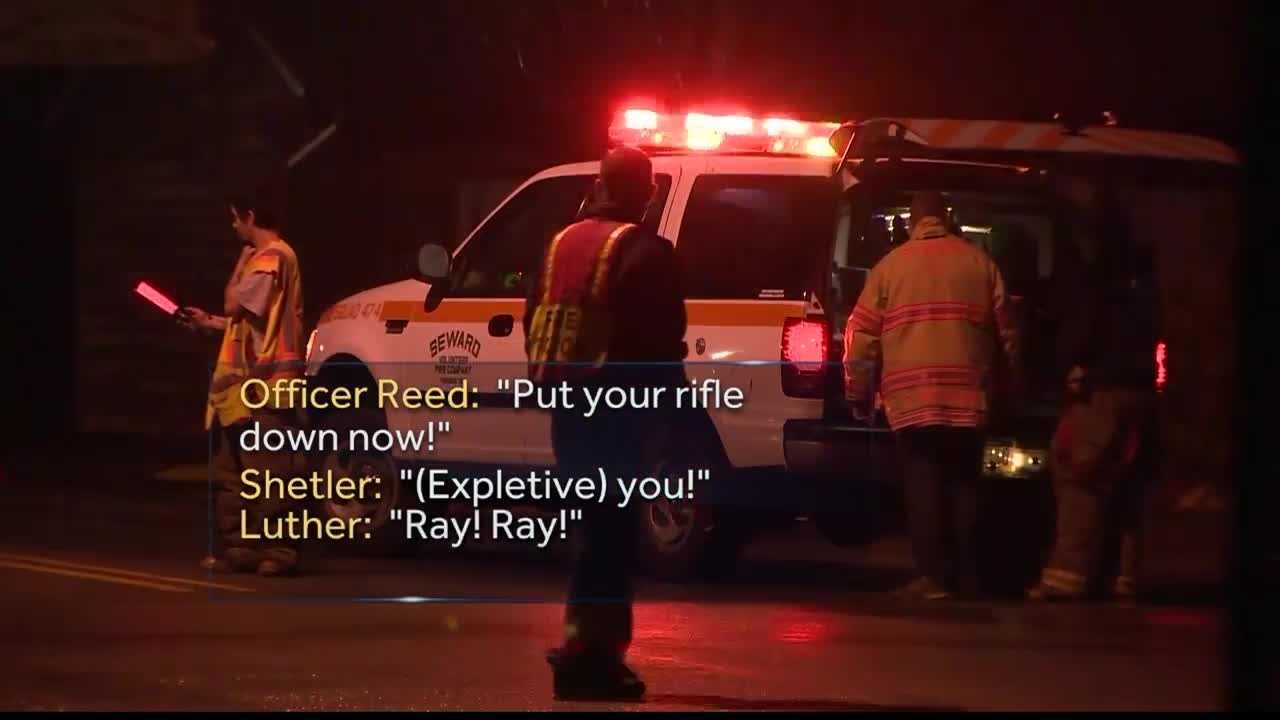 State police say St. Clair Officer Lloyd Reed was shot by Ray Shetler Jr. while responding to a domestic disturbance call in New Florence, Westmoreland County.