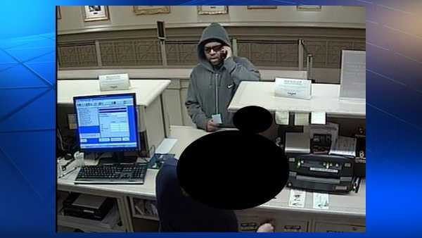 Pittsburgh police say this is a surveillance image of a suspect in the robbery of Dollar Bank on Smithfield Street.