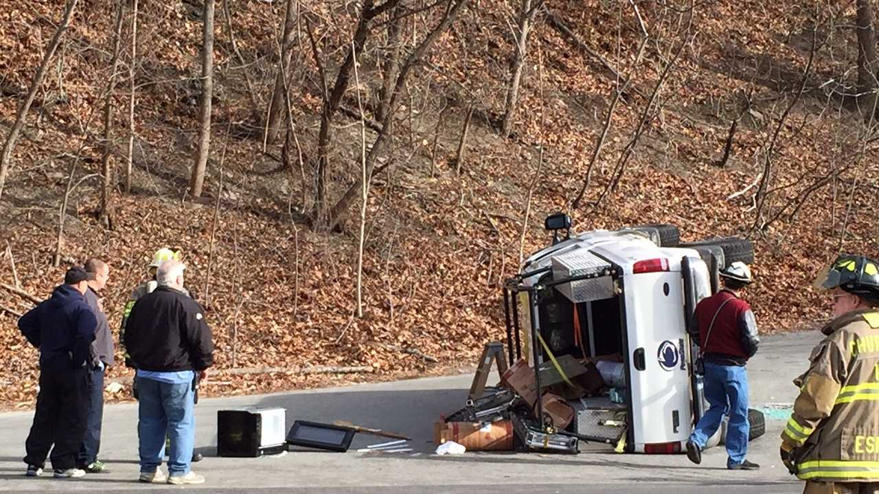 A two-vehicle crash left one person trapped in Wilkins Township Sunday afternoon.