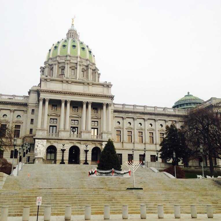While the biggest news out of the Pennsylvania State Capitol this season is the long-overdue budget, there is still Christmastime cheer to marvel at in Harrisburg.