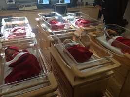 Babies born at Magee-Women's Hospital placed in a special keepsake stocking for parents spending Christmas in the hospital.