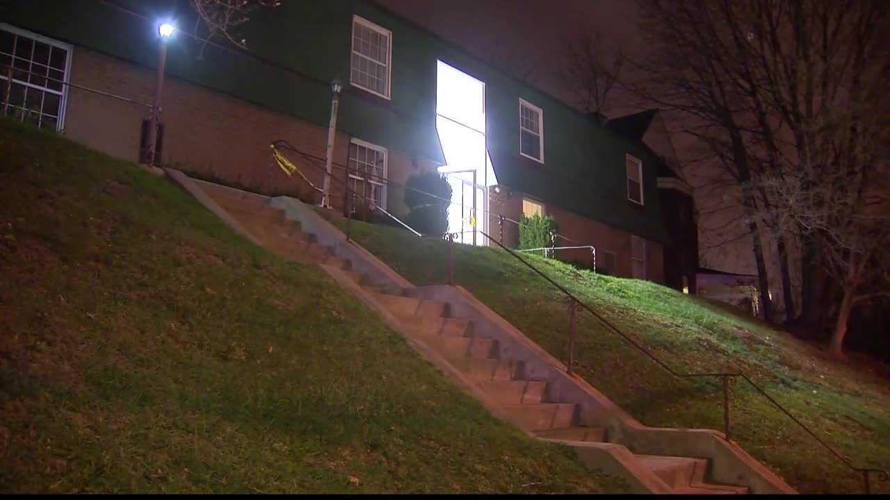 Pittsburgh police officers responded to an apartment building on California Avenue for a report of someone waving a gun in the hallway.